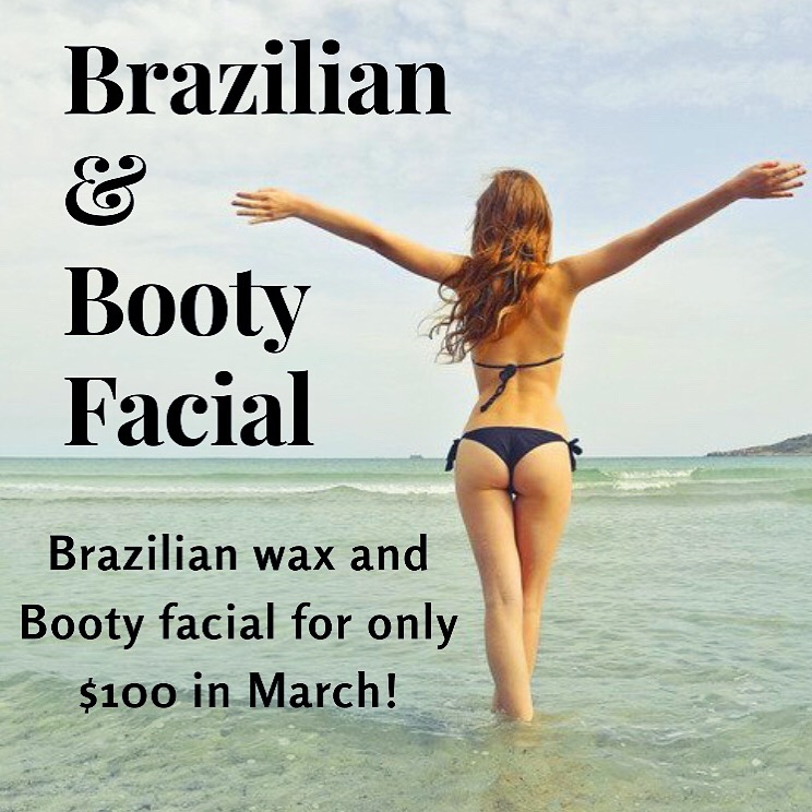 Brazilian and Booty Facial for $100!
